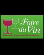 Gratis Duo Ticket Capçanes @ Foire Du Vin St-Niklaas (waarde 12 Euro)  6/3 - 8/3